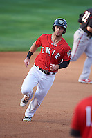 Erie SeaWolves right fielder Jeff McVaney (8) during a game against the Richmond Flying Squirrels on May 27, 2016 at Jerry Uht Park in Erie, Pennsylvania.  Richmond defeated Erie 7-6.  (Mike Janes/Four Seam Images)