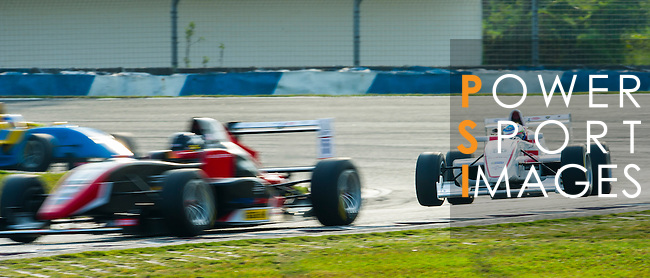 Takashi Hata of Japan and Super License drives during the Formula Masters China Series as part of the 2015 Pan Delta Super Racing Festival at Zhuhai International Circuit on September 19, 2015 in Zhuhai, China.  (Photo by Moses Ng/ Power Sport Images/Getty Images)