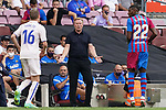 FC Barcelona's coach Ronald Koeman during La Liga match. August 29, 2021. (ALTERPHOTOS/Acero)