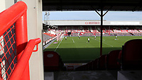 General view of Brentford FC on their last ever match at Griffin Park. The game was played behind closed doors due to the Coronavirus Pandemic during Brentford vs Swansea City, Sky Bet EFL Championship Play-Off Semi-Final 2nd Leg Football at Griffin Park on 29th July 2020