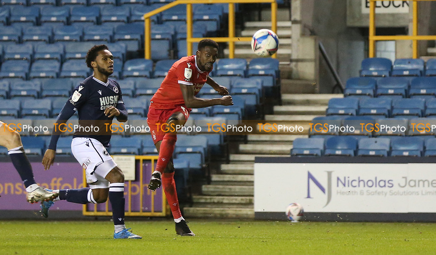 Sammy Ameobi of Nottingham Forest shot goes wide during Millwall vs Nottingham Forest, Sky Bet EFL Championship Football at The Den on 19th December 2020