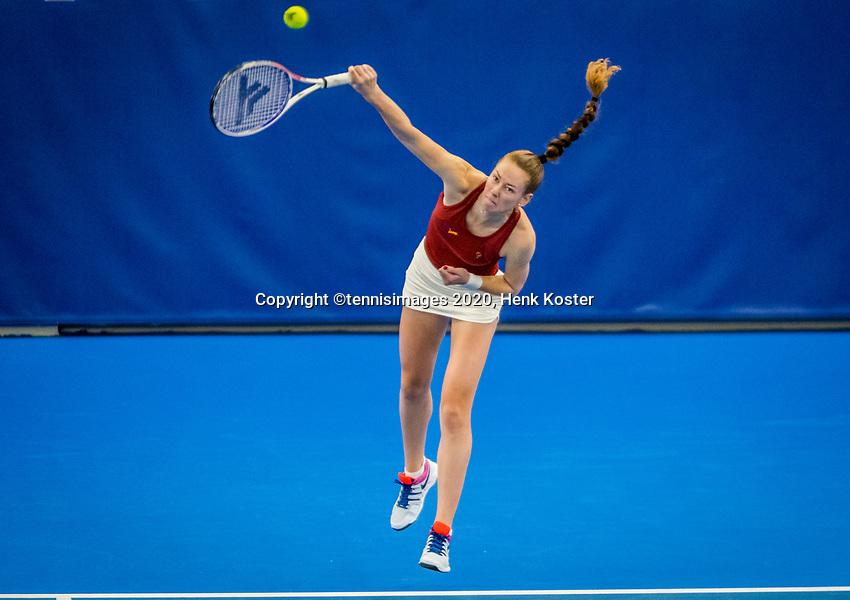 Amstelveen, Netherlands, 18  December, 2020, National Tennis Center, NTC, NK Indoor, National  Indoor Tennis Championships,   :  Stephanie Visscher  (NED) <br /> Photo: Henk Koster/tennisimages.com