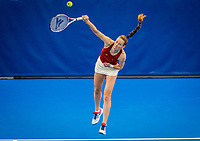 Amstelveen, Netherlands, 18  December, 2020, National Tennis Center, NTC, NK Indoor, National  Indoor Tennis Championships,   :  Stephanie Visscher  (NED) <br /> Photo: Henk Koster/tennisimages.com