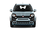 Car photography straight front view of a 2020 Fiat Panda-Cross Launch-Edition 5 Door Hatchback Front View