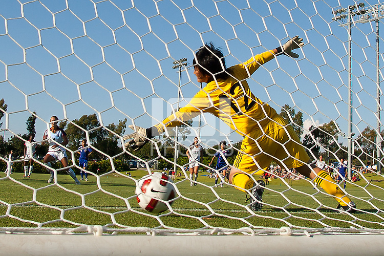 The U17 Women's National team of Japan defeated the US Women's Team 2-1 on David Vanole Field during an international friendly match held at Home Depot Center in Carson, California on August 28, 2011.