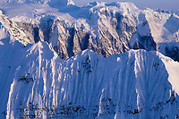 The grand parapet, Wrangell St. Elias mountain range, Wrangell St. Elias National Park, Alaska.
