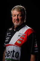 Feb 10, 2016; Pomona, CA, USA; NHRA funny car driver John Hale poses for a portrait during media day at Auto Club Raceway at Pomona. Mandatory Credit: Mark J. Rebilas-USA TODAY Sports