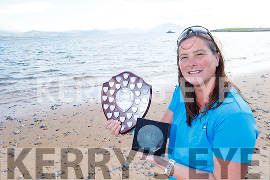 Rosie Foley received the Munster Provincial Irish Long Distance Swimming Association  Award for swimming in Fenit on Thursday.