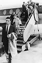 Germany 1960?.Frankfurt, Jemshid Bedir Khan at the airport  .Allemagne 1960? .A l'aeroport de Francfort, arrivee de jemshid Bedir Khan
