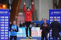 SPEEDSKATING: ERFURT: 20-01-2018, ISU World Cup, Podium 5000m Men Division A, Nicola Tumolero (ITA), Sverre Lunde Pedersen (NOR), Ted-Jan Bloemen (CAN), photo: Martin de Jong