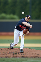 Virginia Cavaliers starting pitcher Bobby Nicholson (21) delivers a pitch to the plate against the Wake Forest Demon Deacons at David F. Couch Ballpark on May 19, 2018 in  Winston-Salem, North Carolina. The Demon Deacons defeated the Cavaliers 18-12. (Brian Westerholt/Four Seam Images)