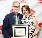 Jack Cummings III and Carmela Dean attends the 2019 Off Broadway Alliance Awards Reception at Sardi's on June 18, 2019 in New York City.