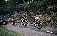 Mikel Nieve (ESP/SKY) & co up the Mur de Péguère (Cat1/1375m/9.3km/7.9%)<br /> <br /> 104th Tour de France 2017<br /> Stage 13 - Saint-Girons › Foix (100km)