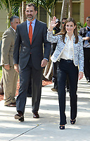 MIAMI, FL - NOVEMBER 19: (EXCLUSIVE COVERAGE)  Prince of Asturias Felipe de Borbón and Princess Letizia Ortiz of Spain visit Coral Way Bilingual K-8 Center.  Coral Way is the first bilingual public school in the United States, and is currently recognized both nationally and internationally as a model for a two-way, dual language bilingual education on November 19, 2013 in Miami, Florida<br /> <br /> <br /> People:  Prince Felipe of Spain_Princess Letizia of Spain