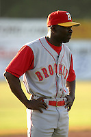 July 25, 2005:  Manager Mookie Wilson of the Brooklyn Cyclones during a game at Dwyer Stadium in Batavia, NY.  Brooklyn is the NY-Penn League Class-A affiliate of the New York Mets.  Photo by:  Mike Janes/Four Seam Images