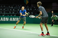 Rotterdam, The Netherlands, Februari 9, 2016,  ABNAMROWTT, Thiemo de Bakker (NED) / Robin Haase (NED)<br /> Photo: Tennisimages/Henk Koster