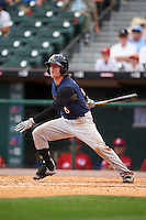 Scranton/Wilkes-Barre RailRiders center fielder Ben Gamel (6) at bat during a game against the Buffalo Bisons on July 2, 2016 at Coca-Cola Field in Buffalo, New York.  Scranton defeated Buffalo 5-1.  (Mike Janes/Four Seam Images)
