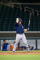 AZL Brewers pinch hitter Tyler Lawrence (31) bats during a game against the AZL Cubs on August 6, 2017 at Sloan Park in Mesa, Arizona. AZL Cubs defeated the AZL Brewers 8-7. (Zachary Lucy/Four Seam Images)