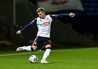Bolton Wanderers' Jak Hickman crosses<br /> <br /> Photographer Andrew Kearns/CameraSport<br /> <br /> EFL Papa John's Trophy - Northern Section - Group C - Bolton Wanderers v Newcastle United U21 - Tuesday 17th November 2020 - University of Bolton Stadium - Bolton<br />  <br /> World Copyright © 2020 CameraSport. All rights reserved. 43 Linden Ave. Countesthorpe. Leicester. England. LE8 5PG - Tel: +44 (0) 116 277 4147 - admin@camerasport.com - www.camerasport.com