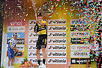 Wout Van Aert (BEL) Team Jumbo-Visma wins the 111th edition of Milan- San Remo 2020 with Julian Alaphilippe (FRA) Deceuninck-Quick Step 2nd and Michael Matthews (AUS) Team Sunweb 3rd, running 305km from Milan to San Remo, Italy. 8th August 2020.<br /> Picture: LaPresse/Gian Mattia D'Alberto | Cyclefile<br /> <br /> All photos usage must carry mandatory copyright credit (© Cyclefile | LaPresse/Gian Mattia D'Alberto)