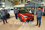 Keliher's Toyota Tralee sales team, l to r: Tommy Hayes, Jack Watkinson, Niall Sheehan and Cian Molloy,