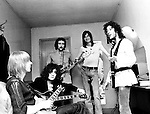 Fleetwood Mac 1969 Danny Kirwan, Jeremy Spencer, John McVie, Mick Fleetwood and Peter Green.<br /> © Chris Walter