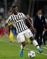 Calcio, Champions League: Gruppo D - Juventus vs Siviglia. Torino, Juventus Stadium, 30 settembre 2015. <br /> Juventus' Patrice Evra in action during the Group D Champions League football match between Juventus and Sevilla at Turin's Juventus Stadium, 30 September 2015. <br /> UPDATE IMAGES PRESS/Isabella Bonotto