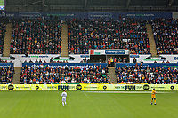 The energy check on the south stand during the Sky Bet Championship match between Swansea City and Preston North End at the Liberty Stadium, Swansea, Wales, UK. Saturday 11 August 2018