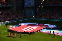 COPENHAGEN, DENMARK - JUNE 17 : Danish shirt banner during the 16th UEFA Euro 2020 Championship Group B match between Denmark and Belgium on June 17, 2021 in Copenhagen, Denmark, 17/06/2021  <br /> Photo Photonews / Panoramic / Insidefoto <br /> ITALY ONLY