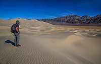 The Last Chance Mountains and Eureka Dunes at Death Valley National Park, California