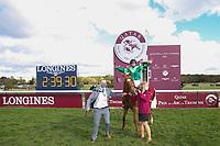 4th October 2020, Longchamp Racecourse, Paris, France; Qatar Prix de l Arc de Triomphe;  Sottsass ridden by Cristian Demuro wins the race