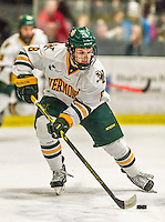 29 December 2014: University of Vermont Catamount Forward Jonathan Turk, a Junior from Calgary, Alberta, in first period action against the Providence College Friars, during the deciding game of the annual TD Bank-Sheraton Catamount Cup Tournament at Gutterson Fieldhouse in Burlington, Vermont. The Friars shut out the Catamounts 3-0 to win the 2014 Cup. Mandatory Credit: Ed Wolfstein Photo *** RAW (NEF) Image File Available ***