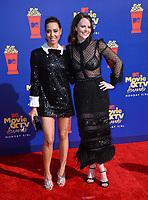 SANTA MONICA, USA. June 16, 2019: Aubrey Plaza & Sarah Ramos at the 2019 MTV Movie & TV Awards at Barker Hangar, Santa Monica.<br /> Picture: Paul Smith/Featureflash