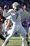 December 30, 2016: TCU quarterback Kenny Hill (7) in the second half of the AutoZone Liberty Bowl at Liberty Bowl Memorial Stadium in Memphis, Tennessee. ©Justin Manning/Eclipse Sportswire/Cal Sport Media