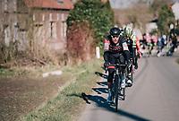 Greg Van Avermaet (BEL/BMC) takes to the front<br /> <br /> 70th Kuurne-Brussel-Kuurne 2018<br /> Kuurne › Kuurne: 200km (BELGIUM)