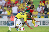 Colombia's Frank Fabra (l) and Cameroon's Olivier Boumal during international friendly match. June 13,2017.(ALTERPHOTOS/Acero) (NortePhoto.com) (NortePhoto.com)