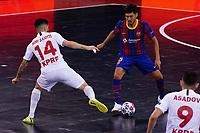 9th October 2020; Palau Blaugrana, Barcelona, Catalonia, Spain; UEFA Futsal Champions League Finals; FC Barcelona versus MFK KPRF;  Shiraishi and Saiotti