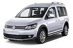 2013 Volkswagen Caddy Cross 5 Door Mini MPV 2WD Angular Front stock photos of front three quarter view