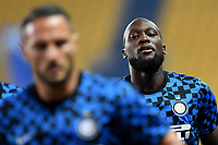 Romelu Lukaku of FC Internazionale looks on prior to the  Serie A football match between Parma and FC Internazionale at stadio Ennio Tardini in Parma ( Italy ), June 28th, 2020. Play resumes behind closed doors following the outbreak of the coronavirus disease. <br /> Photo Andrea Staccioli / Insidefoto