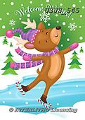 Janet, CHRISTMAS ANIMALS, WEIHNACHTEN TIERE, NAVIDAD ANIMALES, paintings+++++,USJS545,#xa#