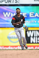 Richmond Flying Squirrels infielder Travlous Realaford (14) during game against the Trenton Thunder at ARM & HAMMER Park on June 9 2013 in Trenton, NJ.  Trenton defeated Richmond 3-2.  Tomasso DeRosa/Four Seam Images