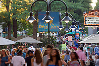 Patrons dine and walk the Downtown Mall in Charlottesville, VA. Photo/ Andrew Shurtleff