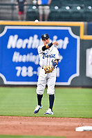 Southern Division shortstop Jose Gomez (4) of the Asheville Tourists during the South Atlantic League All Star Game at Spirit Communications Park on June 20, 2017 in Columbia, South Carolina. The game ended in a tie 3-3 after seven innings. (Tony Farlow/Four Seam Images)
