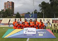 RIONEGRO- COLOMBIA, 17-02-2021:Jugadores de  Envigado  posan para una foto previo al partido por la fecha 7 entre Águilas Doradas y Envigado como parte de la Liga BetPlay DIMAYOR 2021 jugado en el estadio Alberto Grisales de Rionegro/ Players of  Envigado pose to a photo prior Match for the date 7 between Aguilas Doradas and Envigado as part of the BetPlay DIMAYOR League I 2021 played at Alberto Grisales  stadium in Rionegro. Photo: VizzorImage / Juan Augusto Cardona / Contribuidor