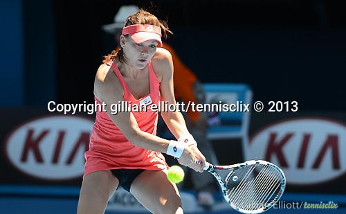 Agnieszka RADWANSKA (POL) loses at Australian Open in Melbourne Australia on 21st January 2013