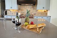 Stock photo of kitchen center island