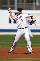 New York Mets David Wright #5 during an exhibition game vs the Michigan Wolverines at Digital Domain Ballpark in Port St. Lucie, Florida;  February 27, 2011.  New York defeated Michigan 7-1.  Photo By Mike Janes/Four Seam Images