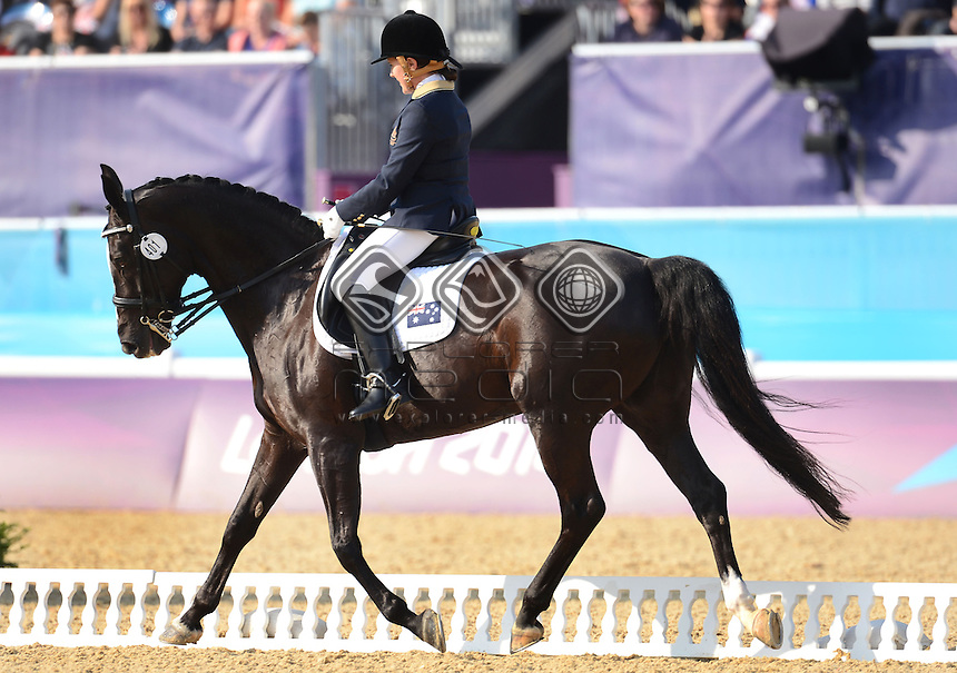 Hannah Dodd (AUS) riding Waikiwi in the Dressage Individual Freestyle Test - Grade IV<br /> Equestrian (Tuesday 4th Sept) - Greenwich Park<br /> Paralympics - Summer / London 2012 <br /> London, England 29 Aug - 9 Sept<br /> © Sport the library/Courtney Crow