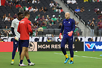 LAS VEGAS, NV - AUGUST 1: Brad Guzan #22 of the United States before a game between Mexico and USMNT at Allegiant Stadium on August 1, 2021 in Las Vegas, Nevada.