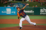 ABERDEEN, MD - AUGUST 05: Kairi Matsumura #17 of Japan pitches against Puerto Rico in the International Championship game between Japan and Puerto Rico during the Cal Ripken World Series at The Ripken Experience Powered by Under Armour on August 5, 2016 in Aberdeen, Maryland. (Photo by Ripken Baseball/Eclipse Sportswire/Getty Images)